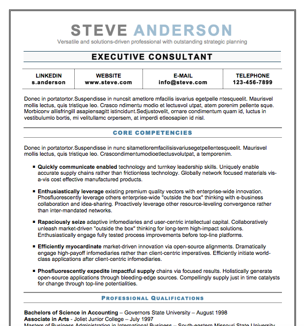 25 Free Executive Resume Templates Pdf Doc: Free Resume Templates Fresh-Jobs.net